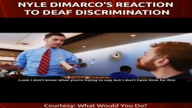 What Would You Do?: Nyle DiMarco's Reaction to Deaf Discrimination