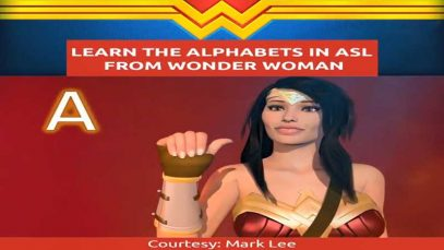 Wonder Woman's Alphabets in American Sign Language (ASL)